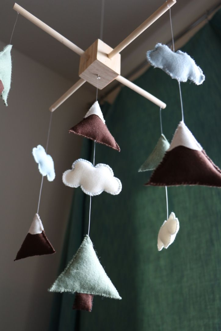 DIY baby mobile for a mountain themed nursery :) | Boy ... Natural Homemade Baby Mobiles on homemade baby food, homemade baby mattress, homemade hot air balloon decoration, homemade baby booties, homemade baby beds, homemade outer space decorating, butterfly mobile, homemade baby footprints, homemade baby blocks, homemade baby items, homemade baby sling, homemade baby shower, homemade baby projects, homemade baby furniture, homemade baby book, make your own mobile, homemade baby gym, homemade baby changing station,