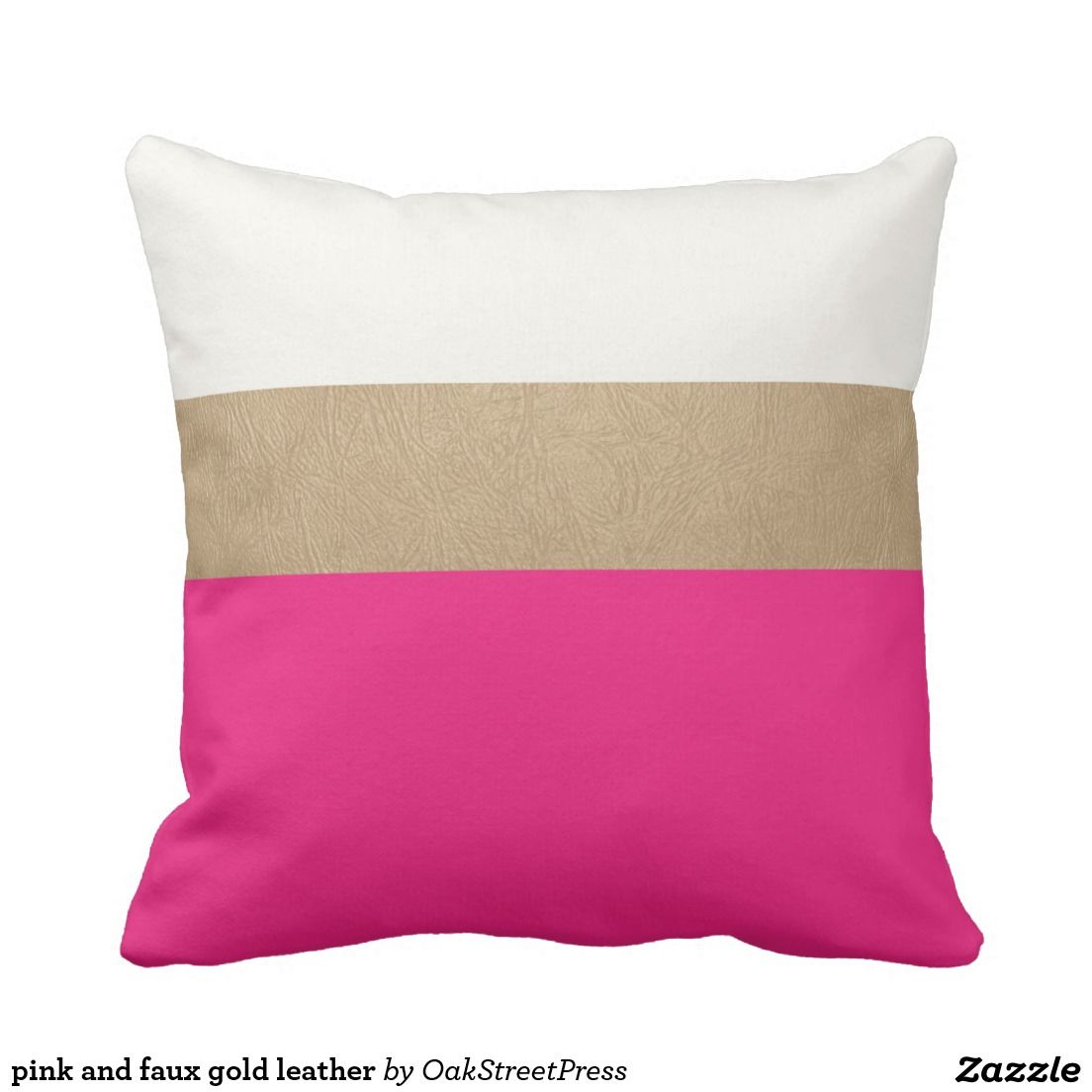 pink and faux gold leather