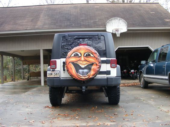 Sun Face Spare Tire Cover Custom Tire Covers Spare Tire Covers