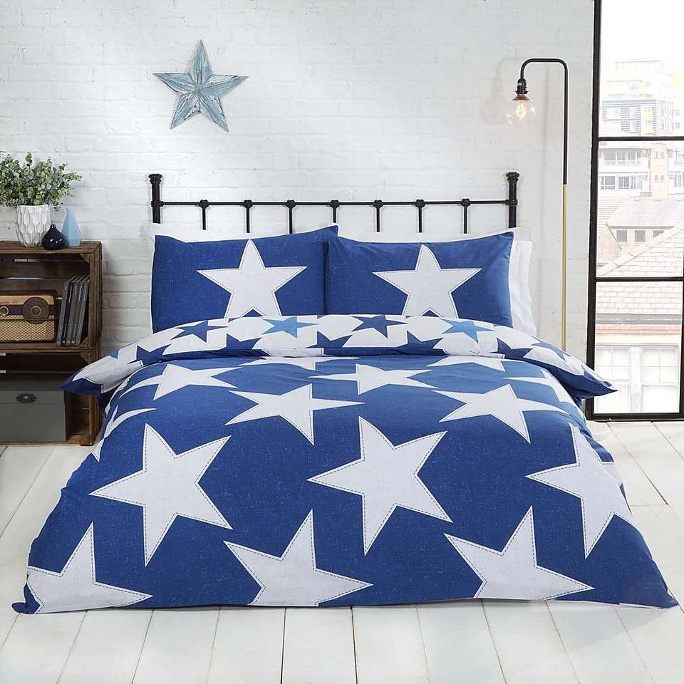 Rapport Home All Star Navy Reversible Duvet Cover And Pillowcase Set Dunelm Duvet Cover Sets Single Duvet Cover King Duvet Cover Sets
