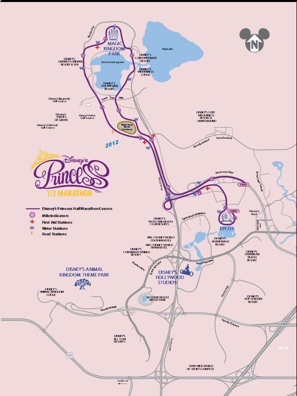 Disney Marathon Course Map 2017 : disney, marathon, course, Disney's, Princess, Marathon, 2016/2017, Date,, Registration,, Course, Route, Disney, Marathon,