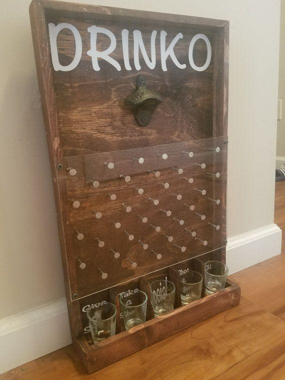 Man Cave Beer Bar : Drinko plinko bottle opener game man cave items bar
