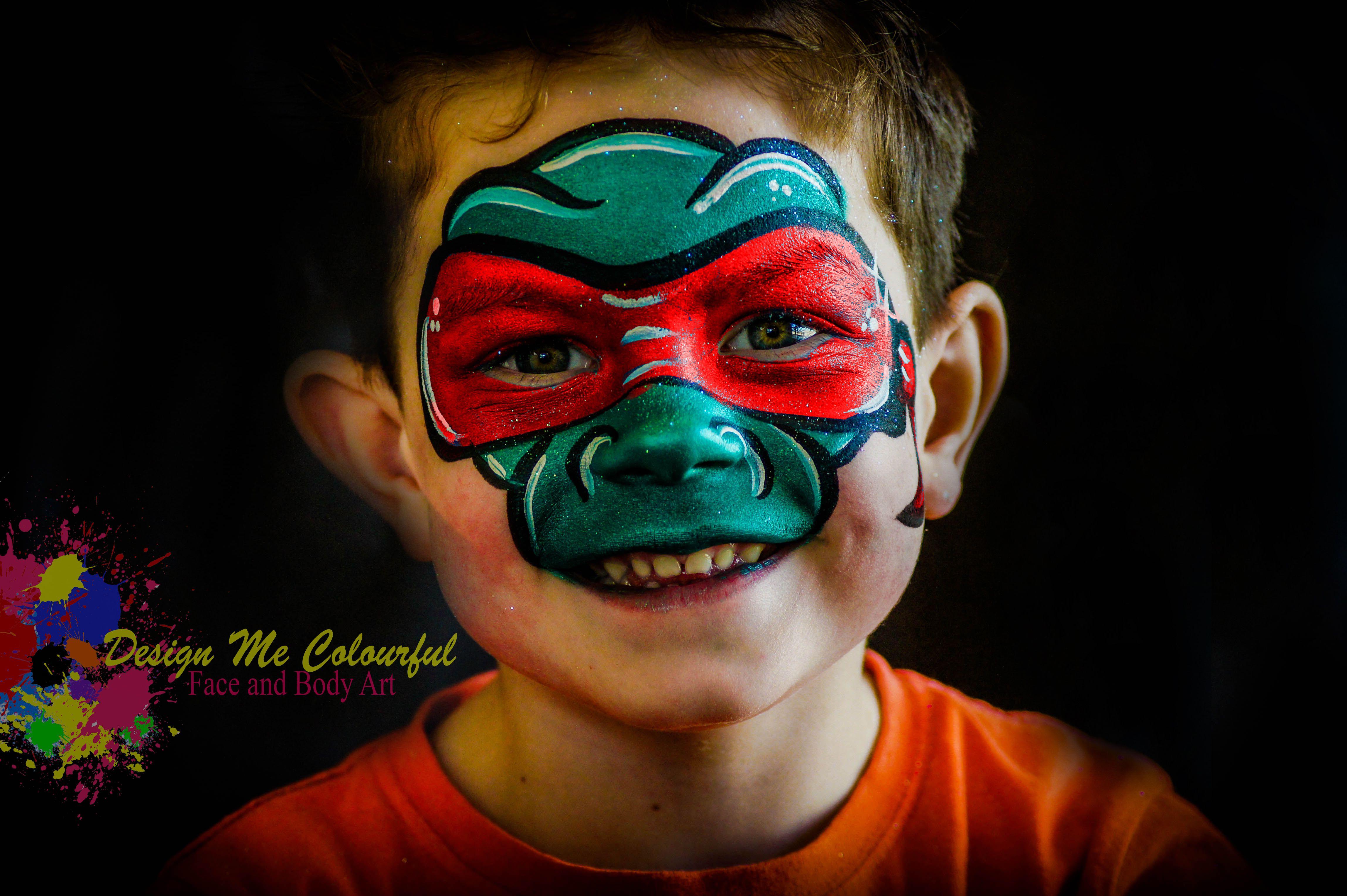 Ninja Turtle Face Paint Raphael Teenage Mutant Ninja ...