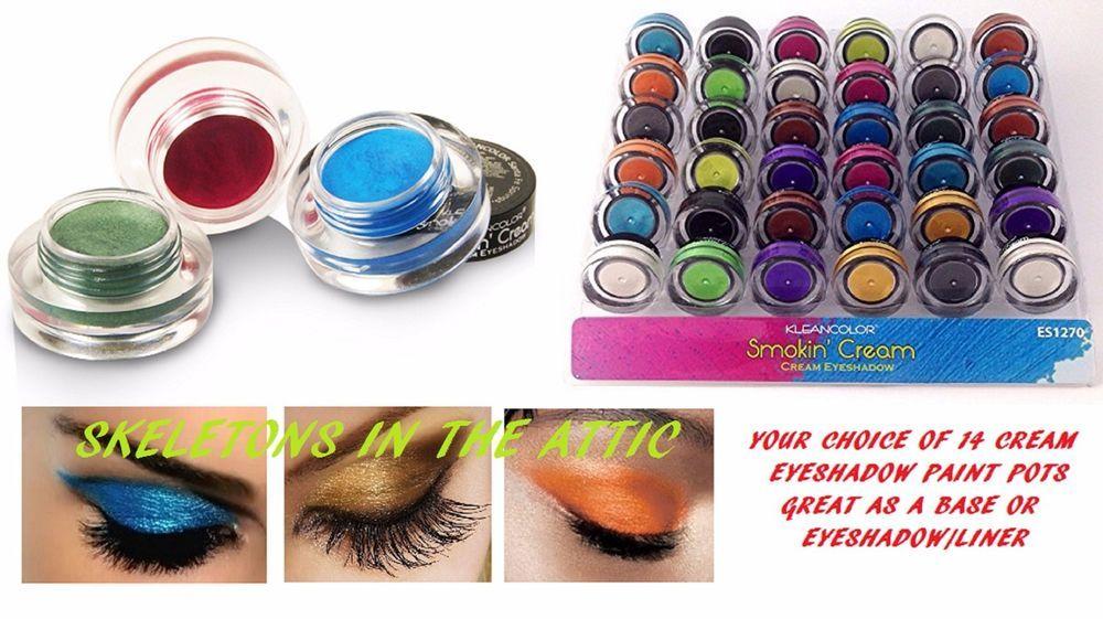 NEW Cosmetics Eye shadow 14 Color Makeup SHIMMER CREAM Eyeshadow  (CHOOSE COLOR) #KLEANCOLOR