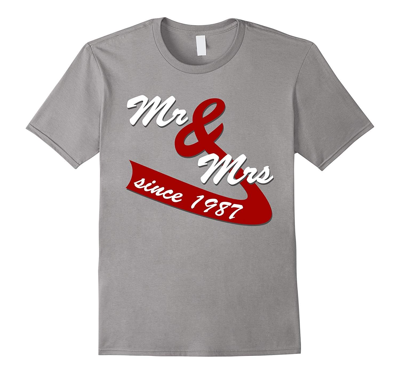 30th Wedding Anniversary Gift Ideas Couples T shirt 20th