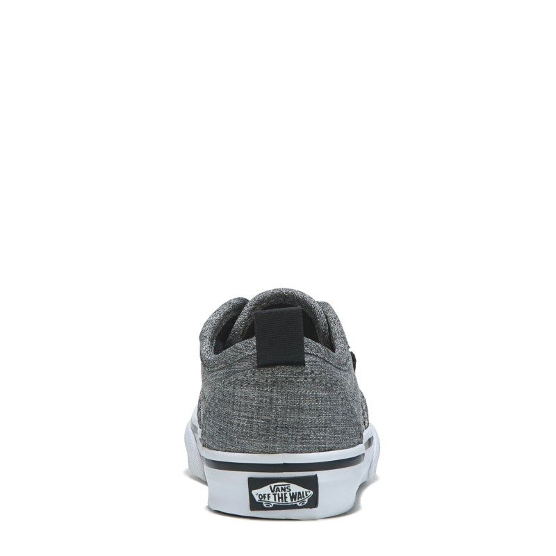 7c6f19dbe3 Vans Kids  Atwood Slip On Sneaker Toddler Shoes (Grey Textile Black) - 7.0 M