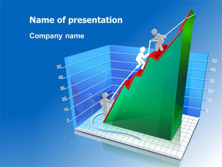 wwwpptstar powerpoint template rising-rates-3d - histogram template