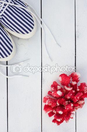 Marine style card. White and blue nautical theme. — Stock Photo © NataliaMilekhina #83360166
