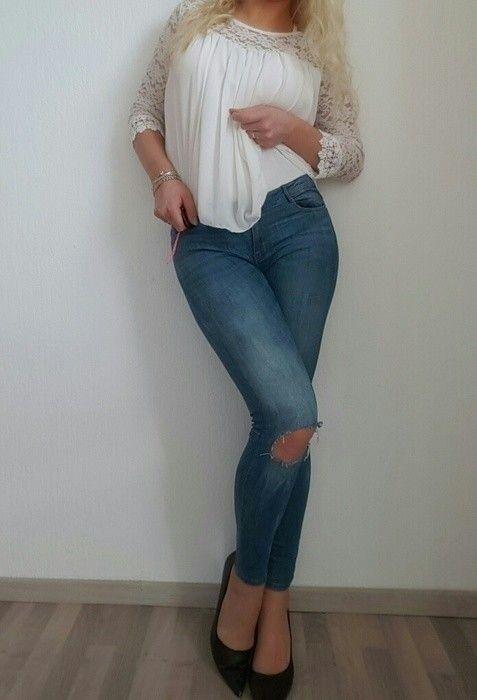 5de59989469ef7 Sexy Zara Jeans USED Löcher Gr40 - kleiderkreisel.de   Tightest ...