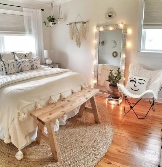 bedroom ideas Textured Ceramic Accent Lamp Cream