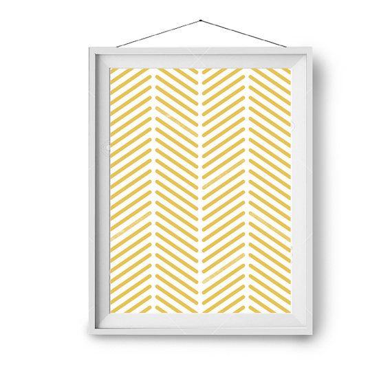 Mustard Print, Yellow Art, Pattern Print, Geometric Art, Art Prints ...