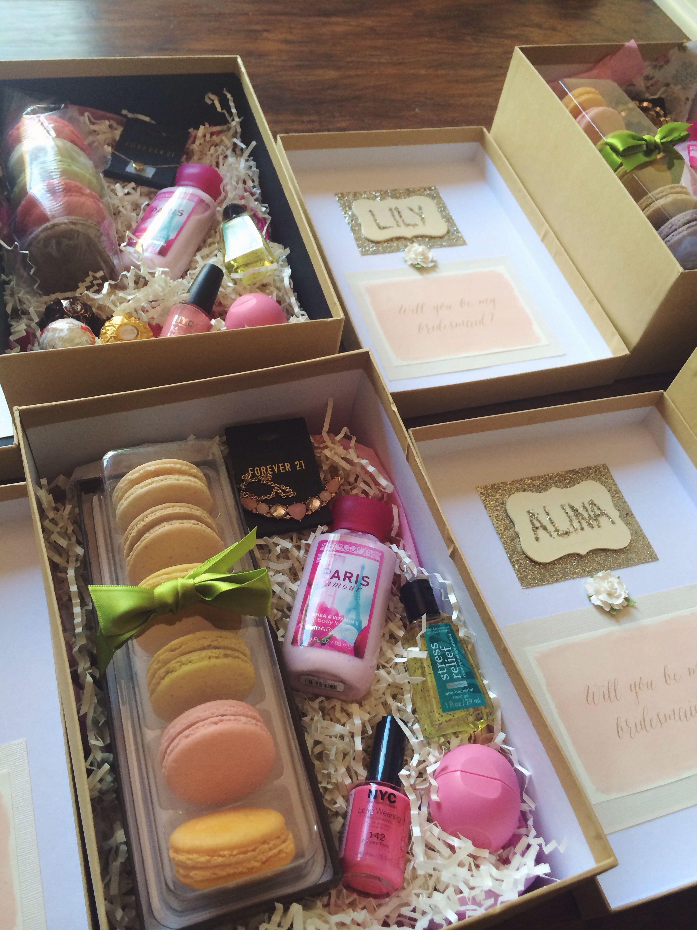 Bridesmaid box theliogkywedding bridesmaid proposal