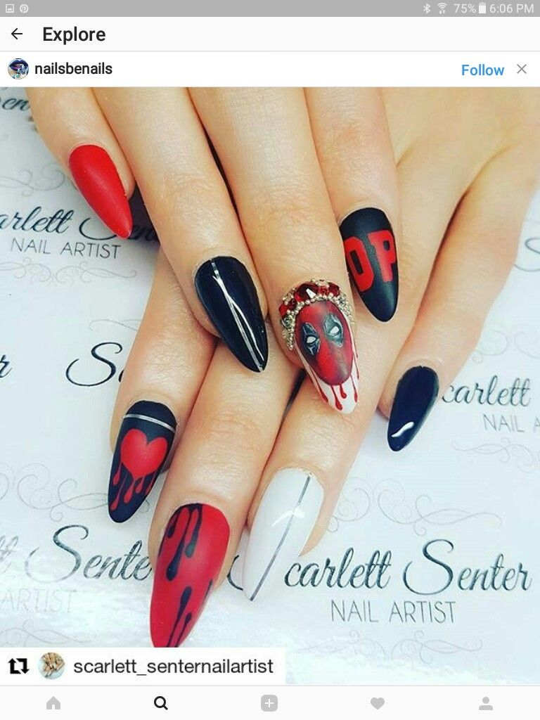 Avengers Nails, Nice Nails, Fun Nails, Disney Nails Art, Nails 2017, - Pin By ♥☆MAL☆♡ On Disney Nail Art In 2018 Pinterest Nail Art