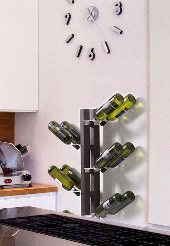 Zia Gaia portabottiglie a parete elegante e discreto / #design #bottel rack #cucina #kitchen #wood #interior