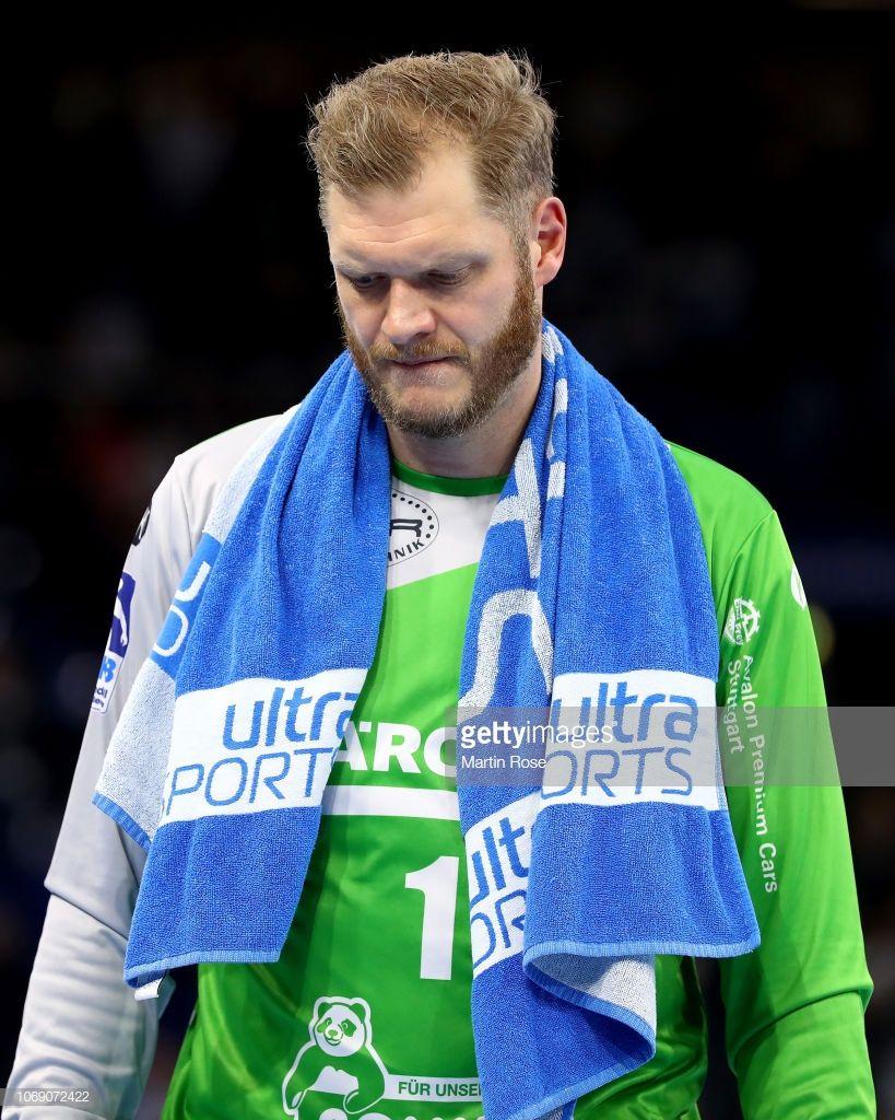 Johannes Bitter lors du match de la DKB Handball