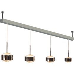 Photo of Top Light Puk Maxx Choice Drop + pendant light 4 heads anthracite-chrome 125cm standard version Top Li