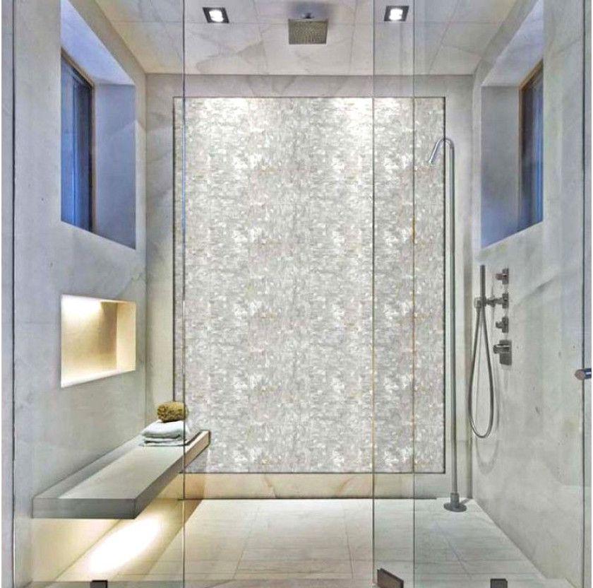 Seamless Shell Mosaic With Base White Subway Tile Backsplash Cheap
