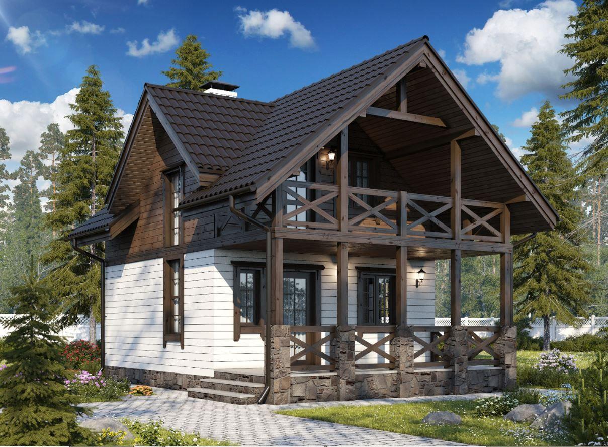 свою фото фасадов двухэтажных деревянных домов штукатурка шлак