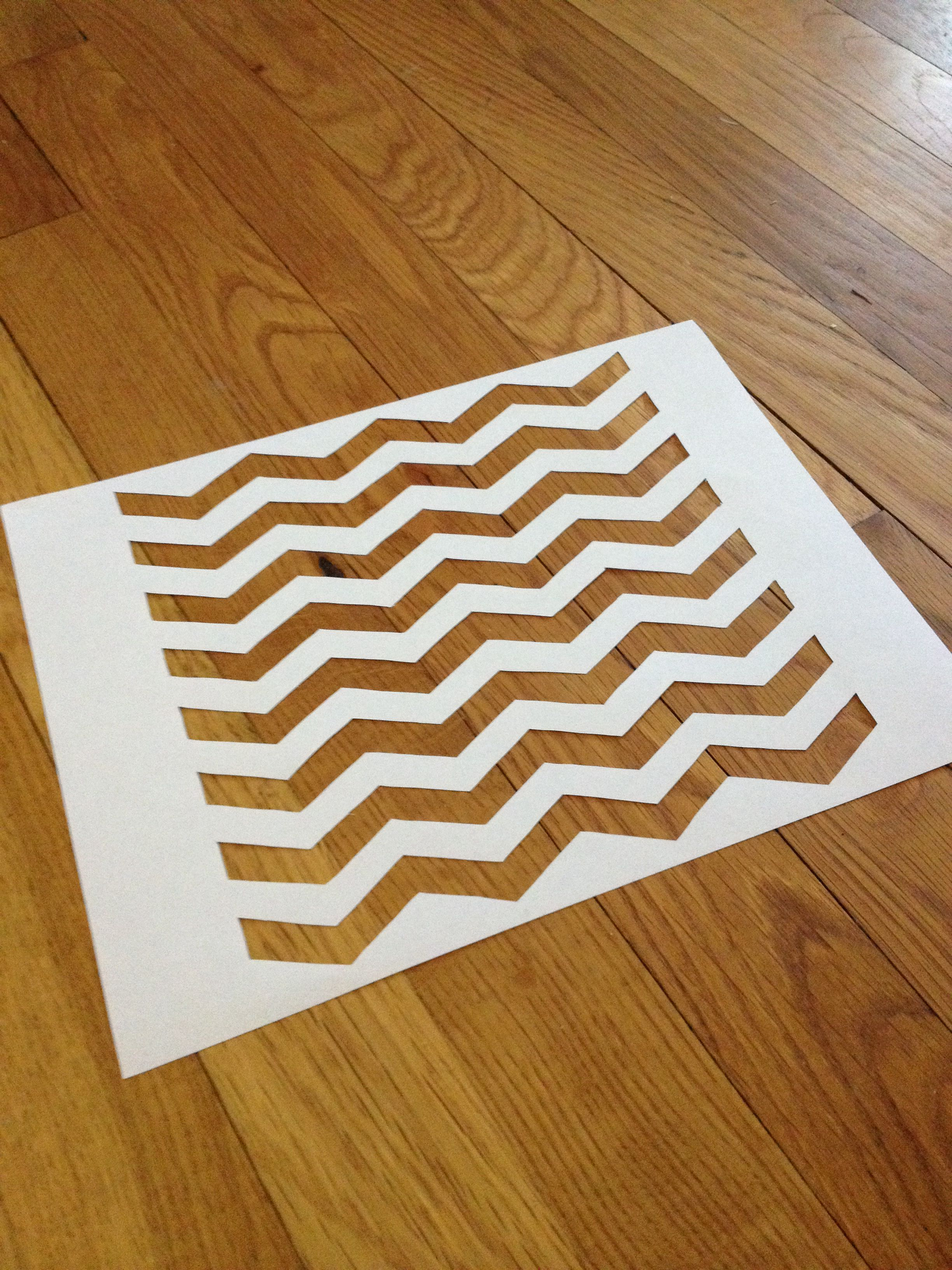8x8 Chevron Pattern Template Lines Are Half An Inch Wide Made With