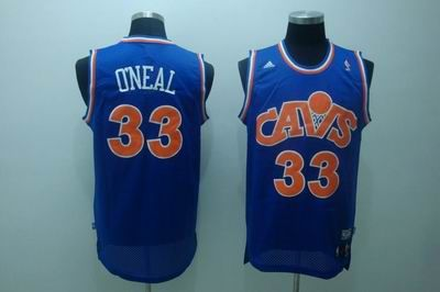 separation shoes 11252 93c58 Cleveland Cavaliers #33 Shaquille O Neal blue orange number ...