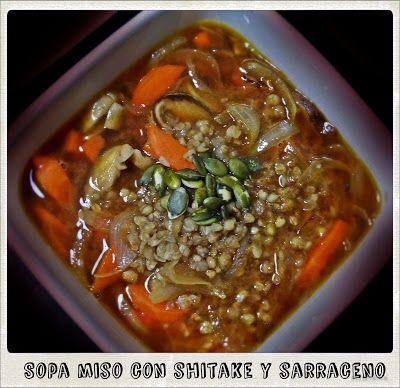 Chefs lunáticas: Sopa miso con shitake y sarraceno
