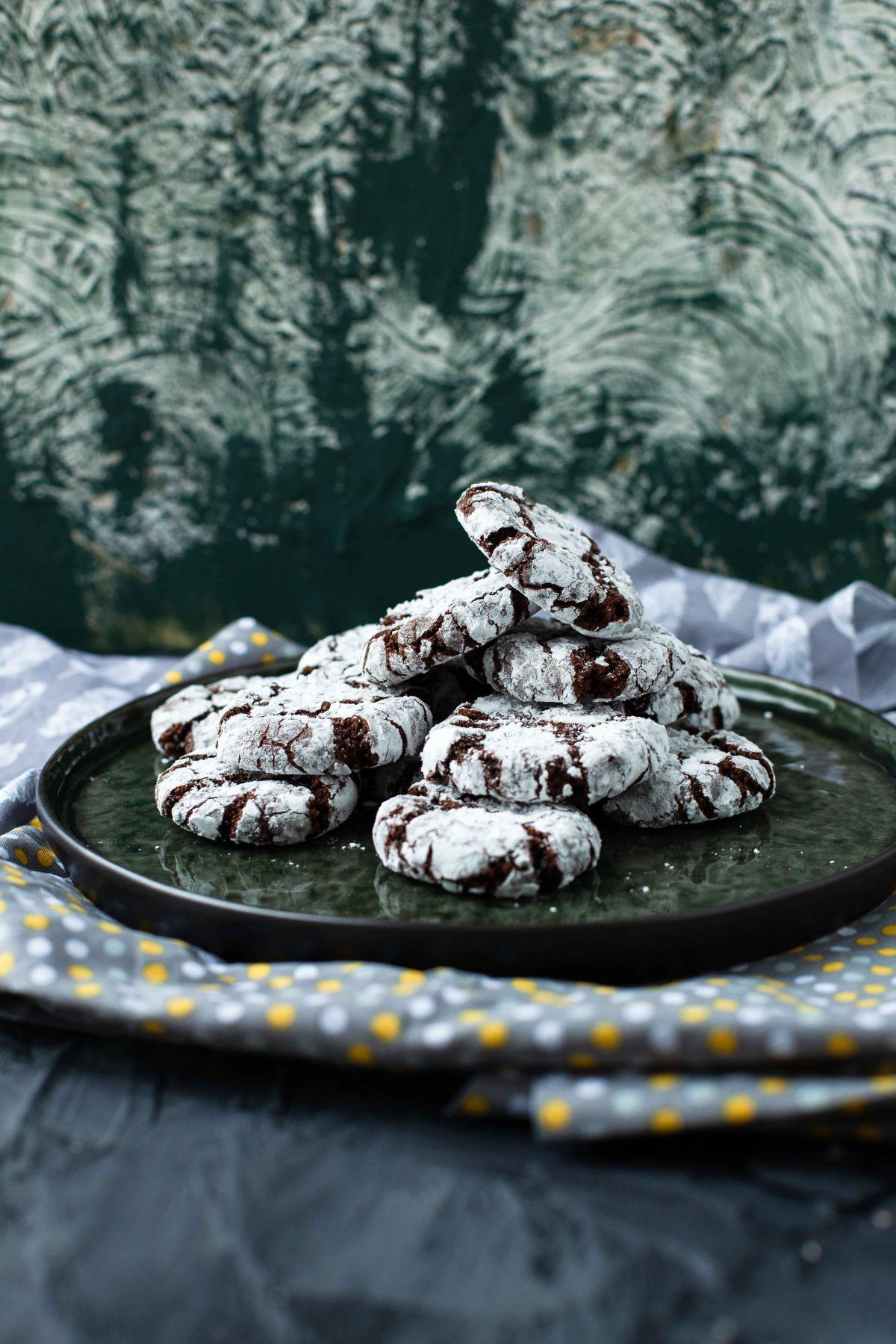 Vegan chocolate crinkle cookies #chocolatecrinklecookies Vegan chocolate crinkle cookies #chocolatecrinklecookies