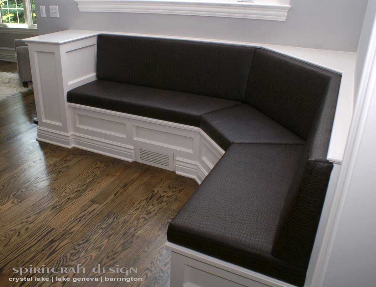 Kitchen Booth Style Bench Seat Offering Upholstery