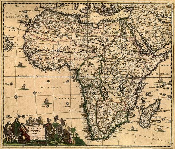 Africa 1688 antique world map old world map ancient maps 93 africa 1688 antique world map old world map by mapsandposters 999 gumiabroncs Images