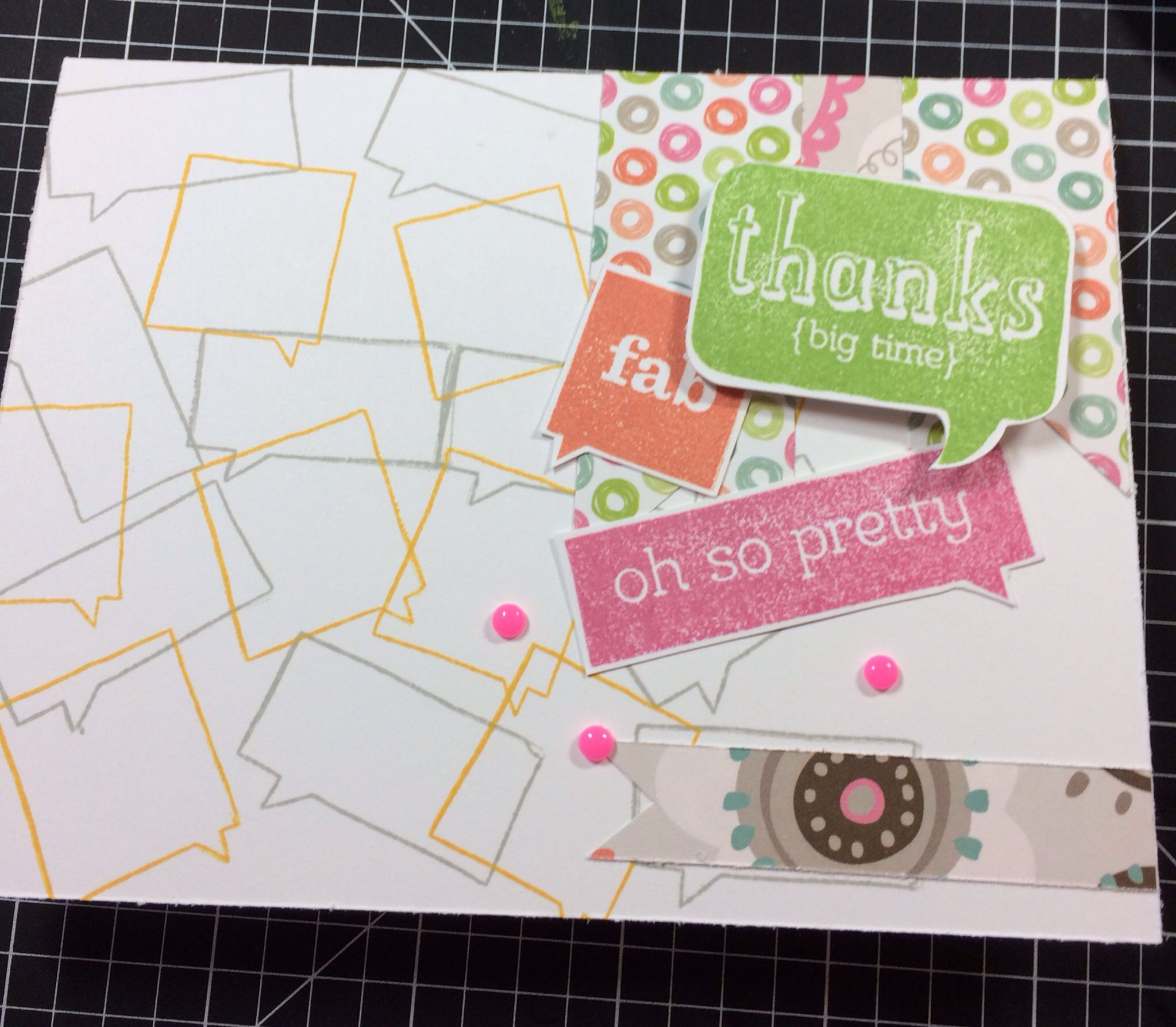 Card I made using Close To My Heart April 2014 stamp of the month. Comment for info on how to get your stamp set