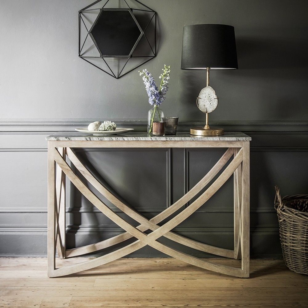Lily Console Table With A Marble Natural Stone Top Hall Console Table Contemporary Console Table Console Table Hallway