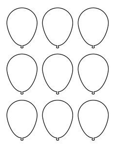 photo about Balloon Templates Printable named Pin as a result of cherryann savich upon Templates Balloon template