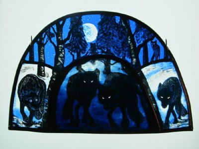 Glass Illustration By Tamsin Abbott The Wolves