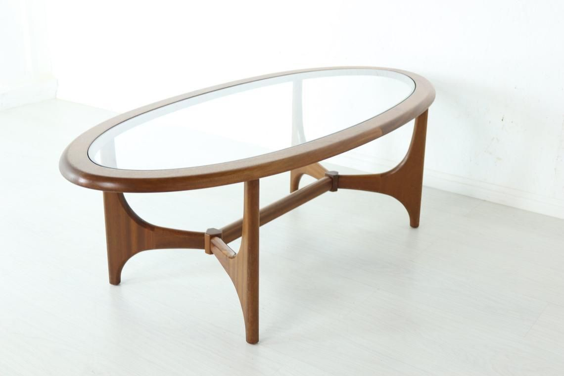 Retro Astro Style Teak Coffee Table Oval Shape By Stonehill Mid Century 60s 70s Stunning Condition [ 760 x 1140 Pixel ]