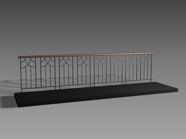 balcony railing design 3d model chad balcony guardrail