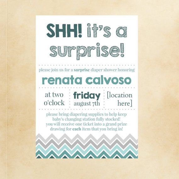 Shh Its A Surprise Baby Shower Invite By Stupendousstyle My Etsy
