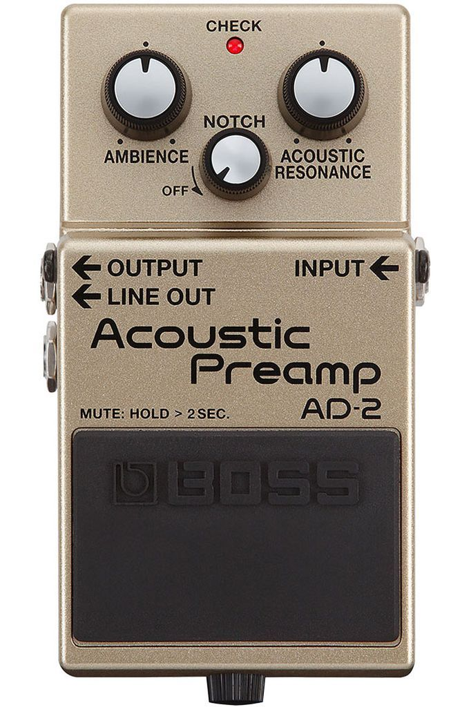 Boss Ad 2 Acoustic Preamp Pedal Guitar Effects Pedals Guitar Effects