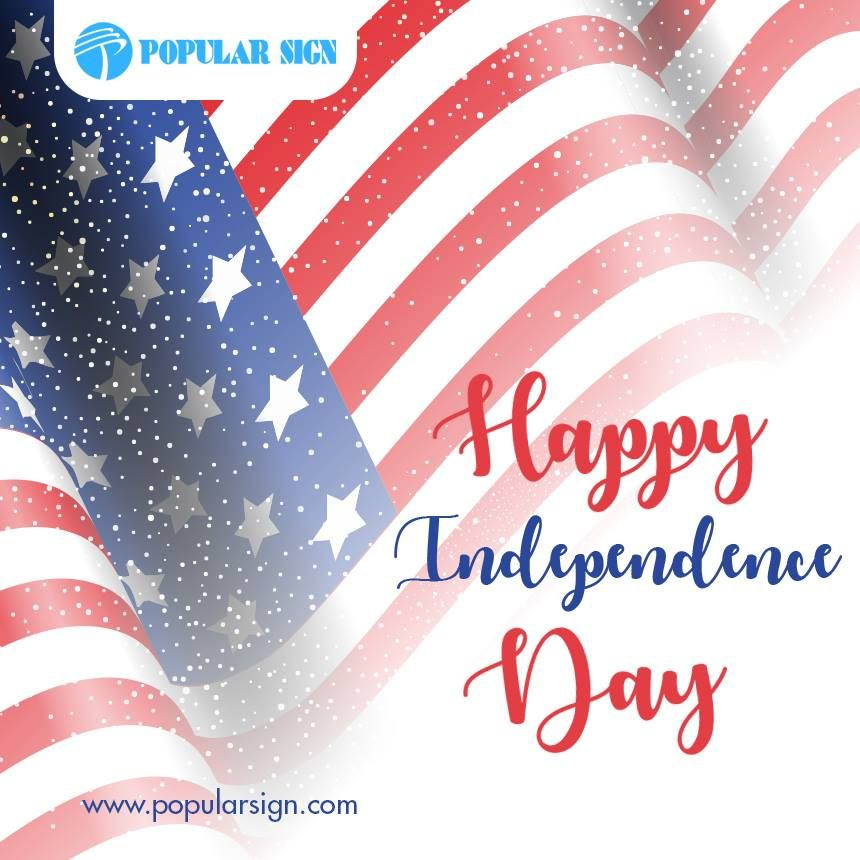 Happy Independence Day Visit Www Popularsign Com Happyindependenceday Vector Free July Background American Flag