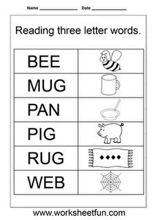 Worksheetfun Free Printable Worksheets Three Letter Words Writing Cvc Words 3 Letter Words