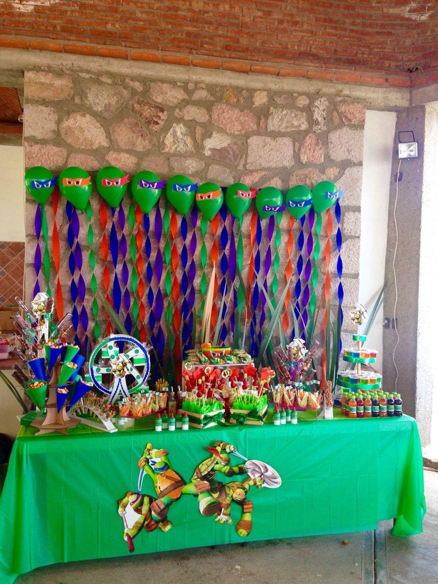 Candy bar ninja party cookies pinterest tortugas - Cortinas infantiles valencia ...
