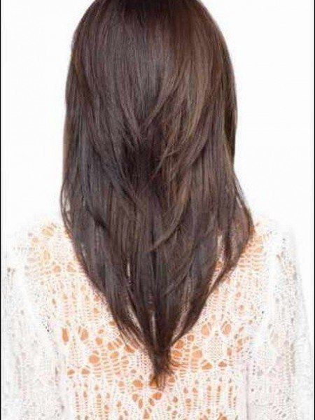 New Trending Women Hairstyles Long With Layers Back View Of Layered