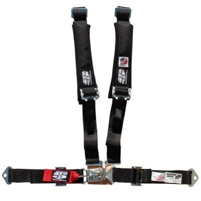 2 Inch Black Twisted Stitch Harness 4 Point Yamaha YXZ