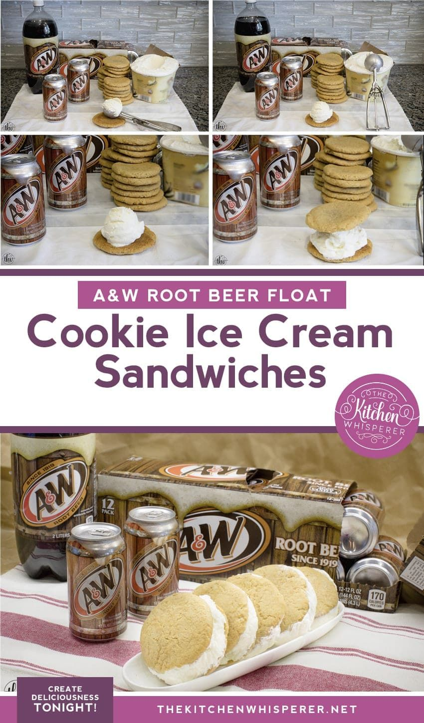 Root Beer Float Cookie Ice Cream Sandwiches