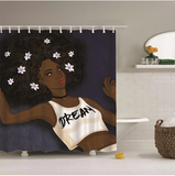 MULTIPLE Afrocentric Bathroom Shower Curtains – Pro Black Home Decorations / Decor