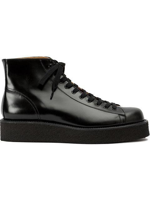 Yohji Yamamoto Lace Up Boots In Black Modesens In 2021 Yamamoto Shoes Bespoke Shoes Boots