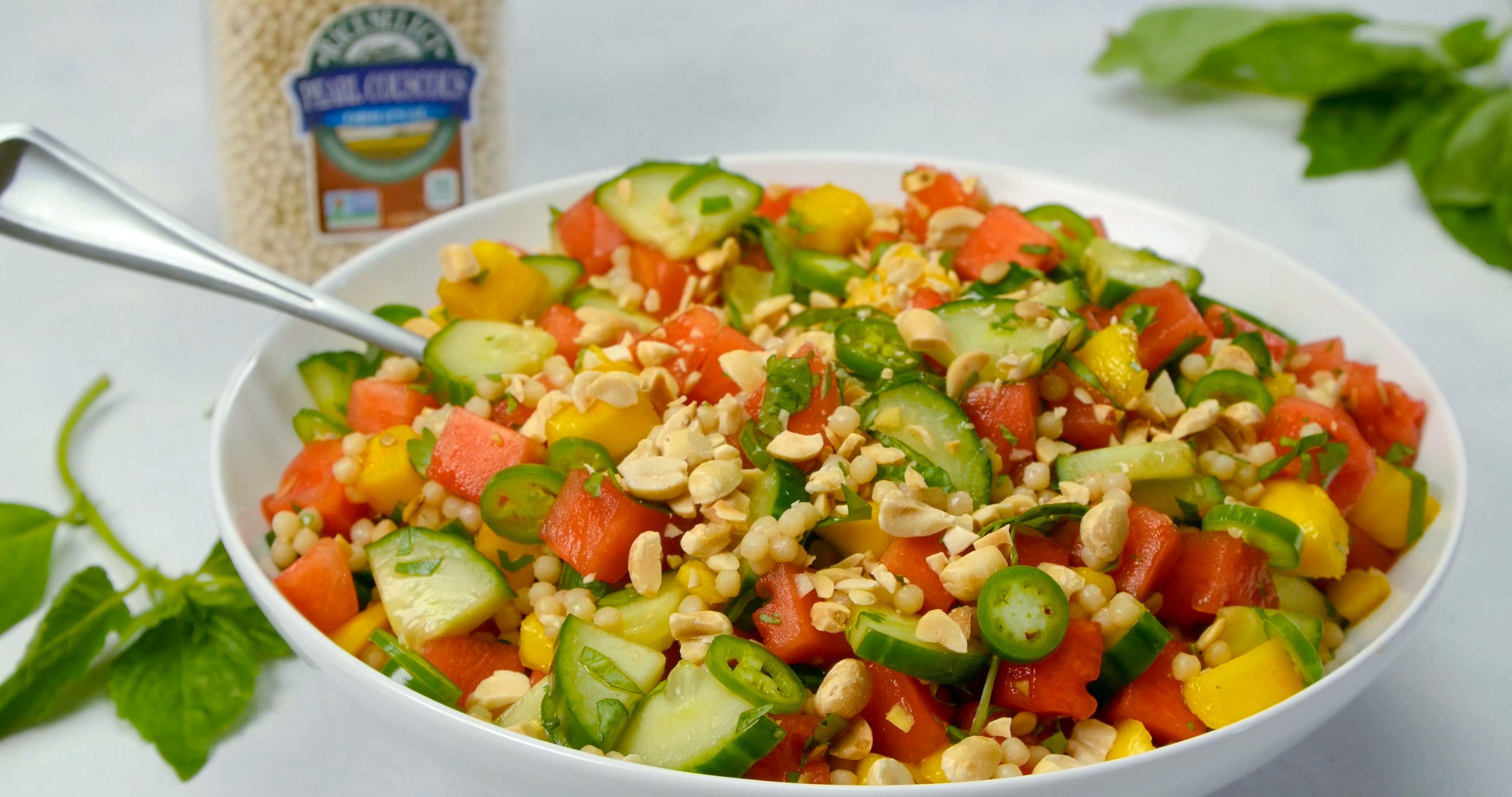 Watermelon Strawberry Cucumber Salad - Aberdeens Kitchen   Recipe   Healthy recipes, Recipes, Food