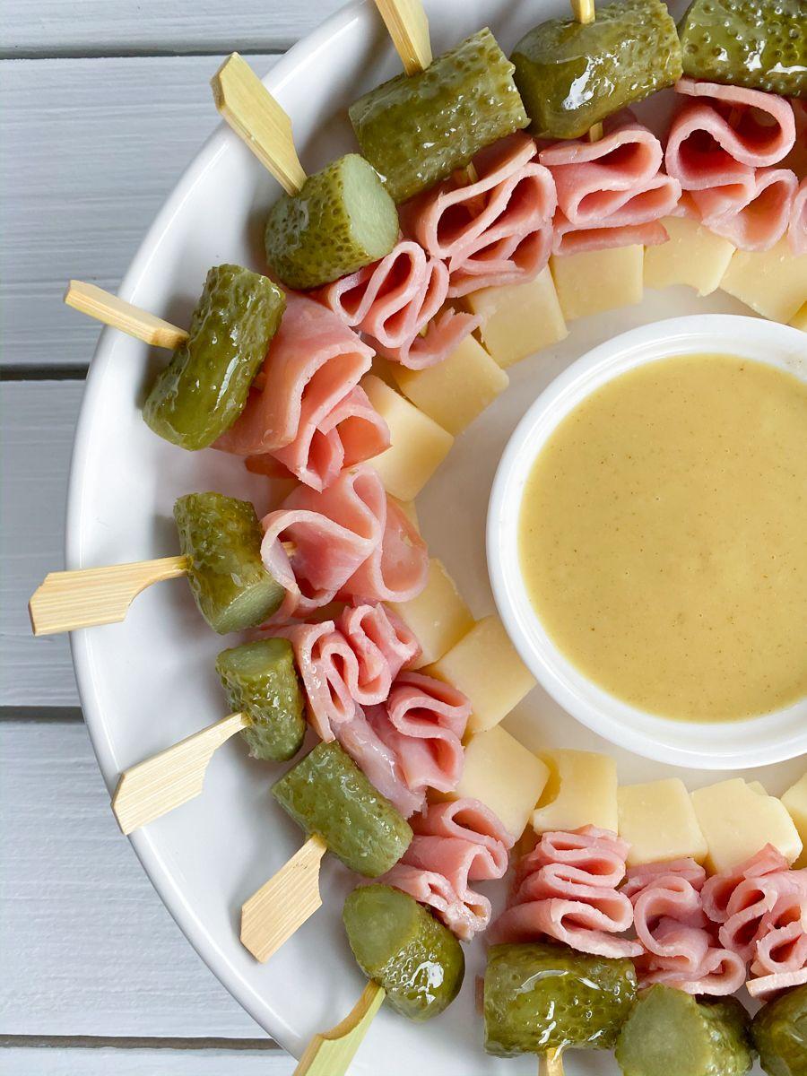 Mini Cubano Sandwich Skewers Recipe Cubano Sandwich Skewers Appetizer Recipes