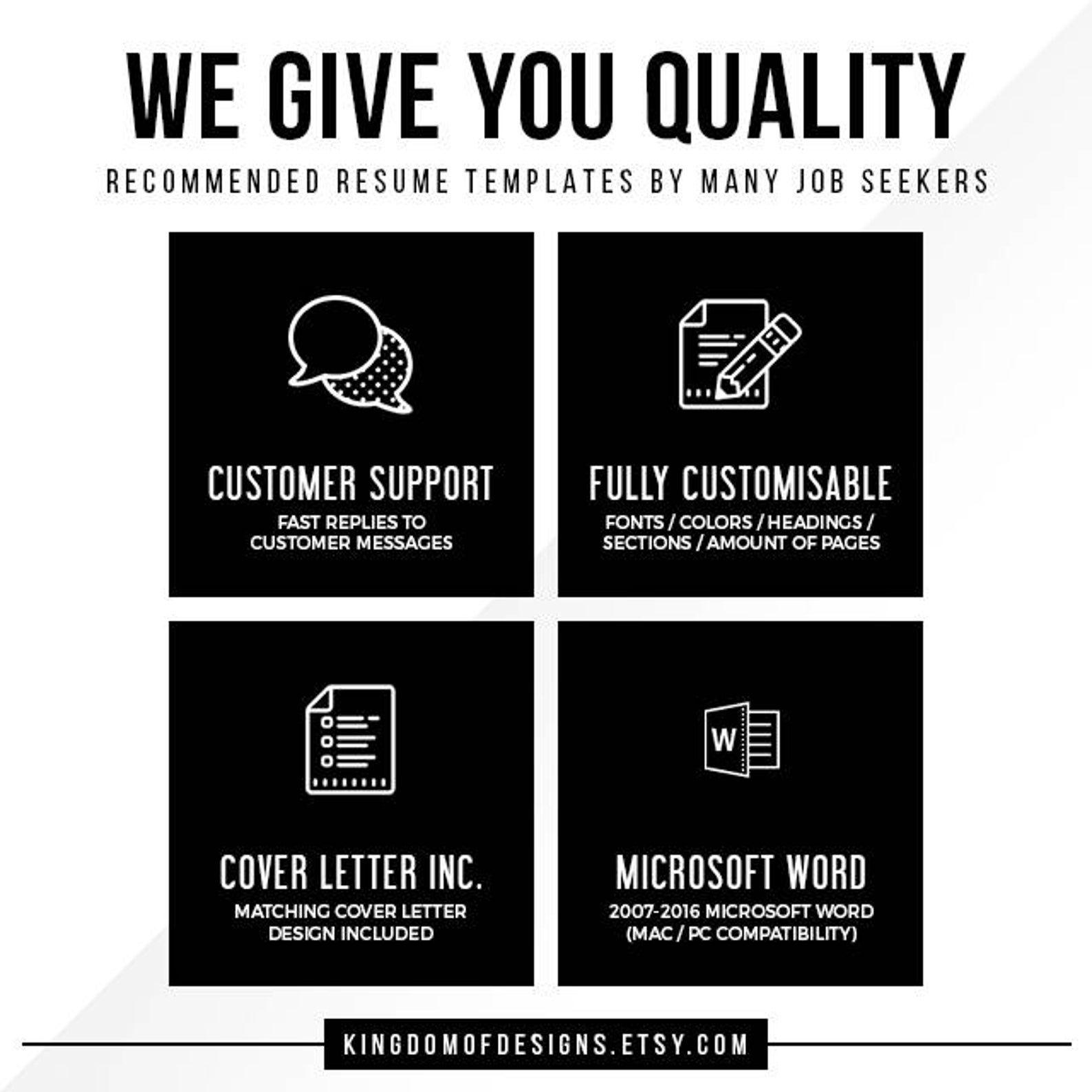 resume for microsoft word - minimal resume template