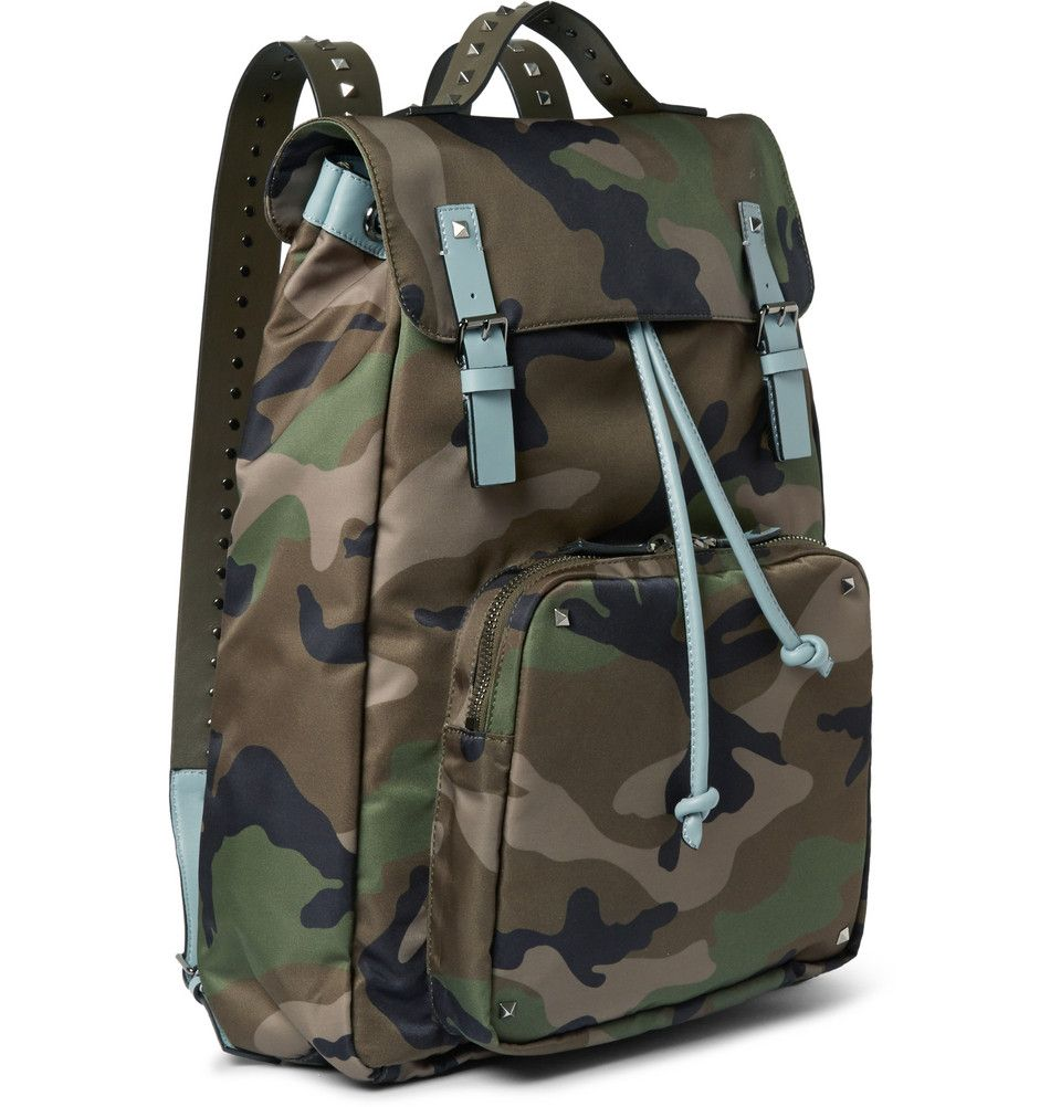 Men Fashion Camouflage Canvas Backpack Bags