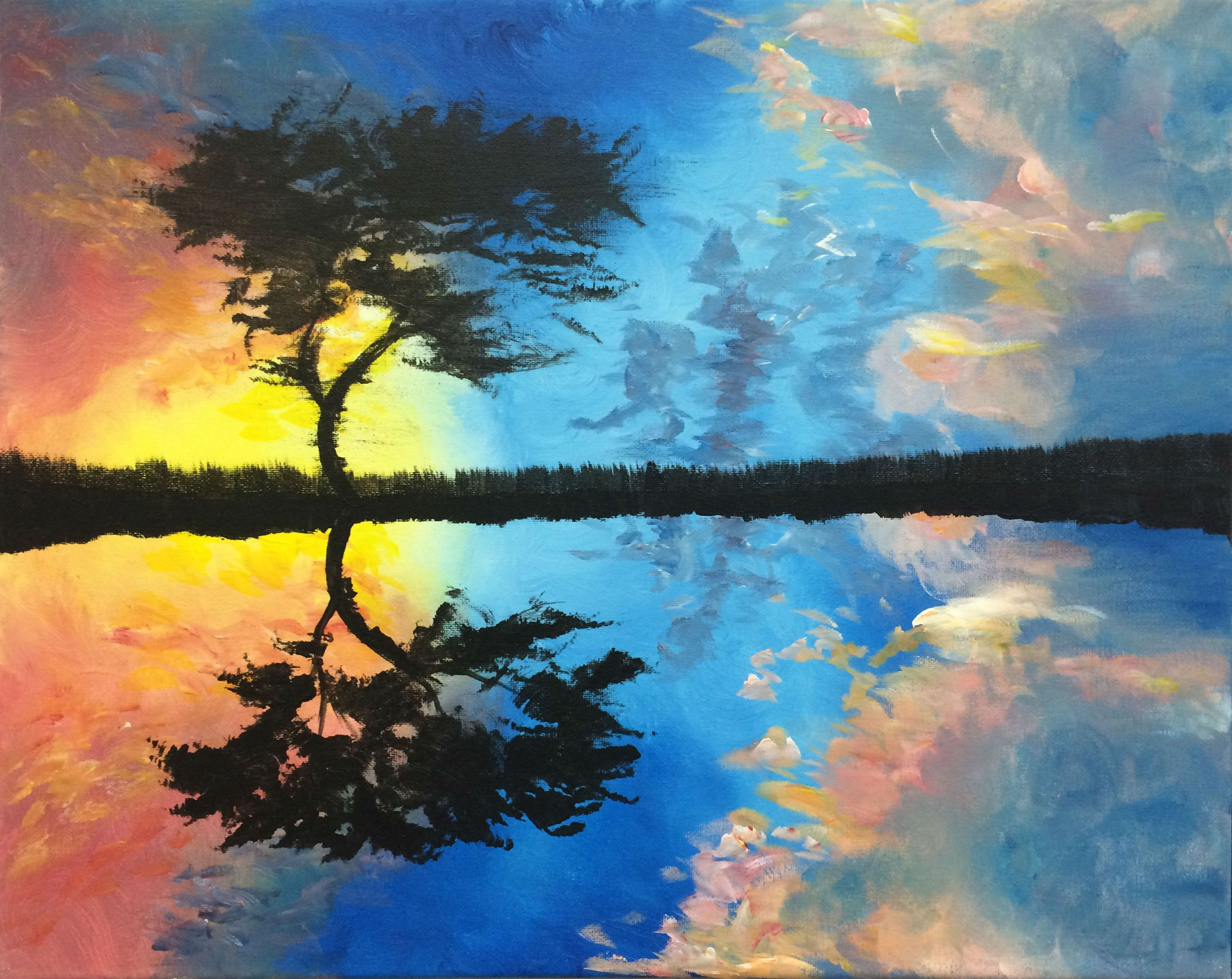 African Oasis Painting Art Gallery