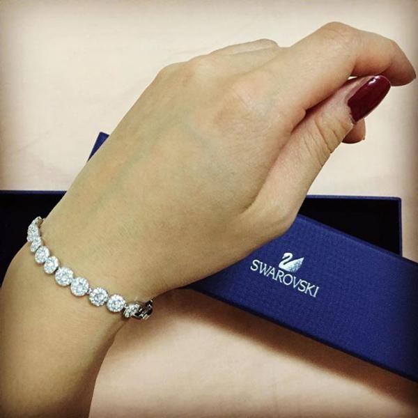 Swarovski Angelic Bracelet Bracelets Rhodium Plated Swarovski